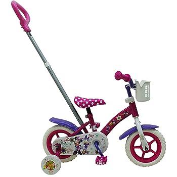Disney Minnie Bow-Tique Bicicleta de niña con Barra de Empuje, Rosa, Pink/Purple