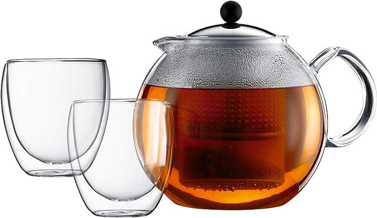 Bodum ASSAM SET Tea Press (1.5 L/51 oz) and Glasses