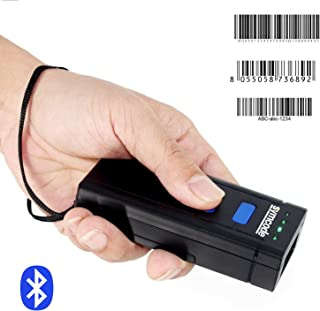 Symcode Bluetooth Wireless Barcode Scanner,Compatible with Bluetooth Function & 2.4GHz Wireless, Portable Barcode Reader Work with Windows, Mac,Android, iOS Phones, Tablets or Computers
