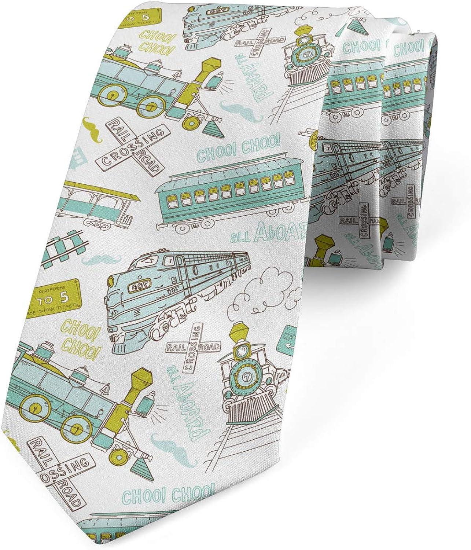 Ambesonne Multicolor Modern Men's Tie