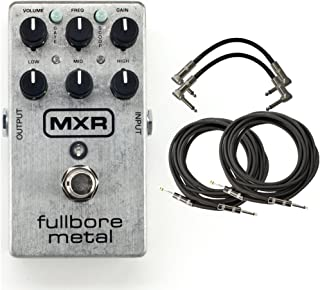 MXR M116 Fullbore Metal Distortion Pedal w/4 FREE Cables