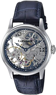 """Thomas Earnshaw """"Bauer Esqueleto Mecánico Mecánico mano viento Acero Inoxidable y piel Vestido reloj de los hombres, color: negro (Modelo: es-8049–04)"""