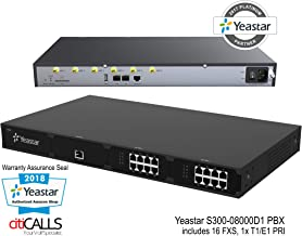 YeaStar YST-S300-08000D1 VoIP SIP IP Rack PBX 300 Ext 16 FXS 0 FXO 0 GSM 1 PRI