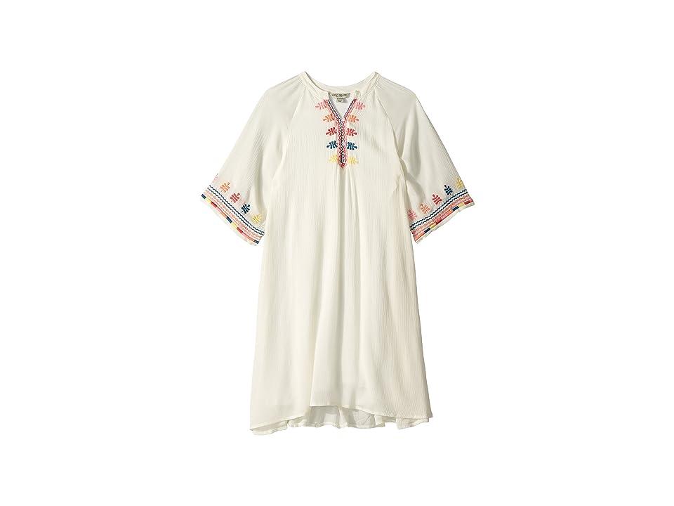 Lucky Brand Kids Roxanne Dress (Big Kids) (Whisper White) Girl
