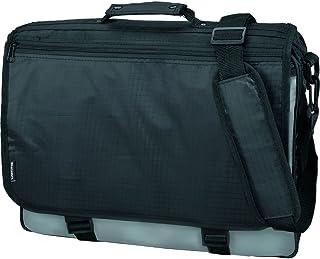 Lightpak Umhängetasche WAVE, aus strapazierfähigem Polyester, ca. 31 × 40 10 cm, schwarz/grau Messenger Bag, Black (schwar...