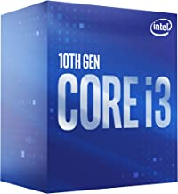 Intel Core i3-10100 Desktop Processor 4 Cores up to 4.3 GHz  LGA1200 (Intel 400 Series Chipset) 65W, Model Number: BX80701...