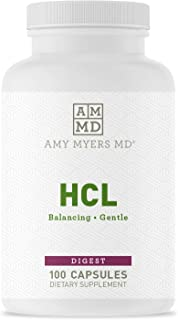HCL from Dr. Amy Myers - Betaine HCL Supports Maximum Calcium, Magnesium, Iron & Other Mineral Absorption. ...