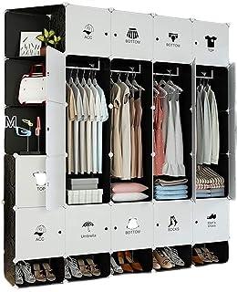Garde-robe XINYALAMP Armoire Placard Plastique Plastique Armoire Portable Placard pour Chambre à Coucher vêtements Armoire...