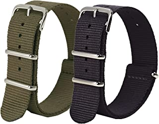 Vetoo Nylon Watch Bands, Quick Release Premium Ballistic NATO Straps, One Piece Replacement Wristband for Men Women, 22mm 20mm 18mm