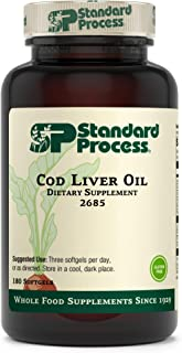 Standard Process Cod Liver Oil - EPA and DHA - Whole Food Eye Support, Skin Health, Antioxidant Supplement for Bone Healt...