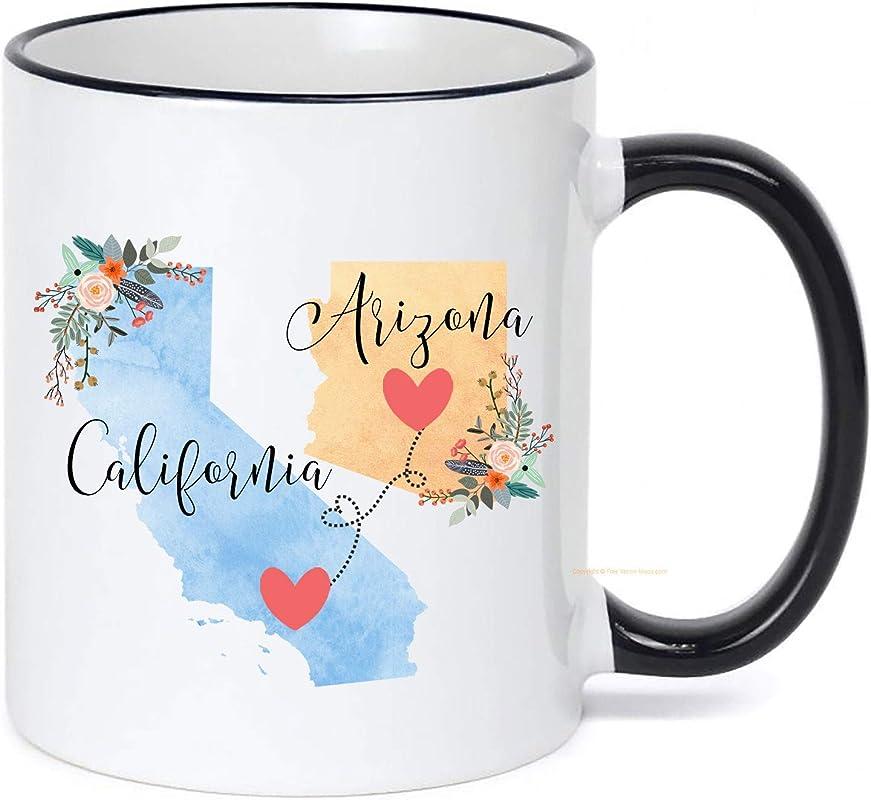 California To Arizona Mug Arizona To California Mug California Arizona Gift Arizona California Coffee Cup