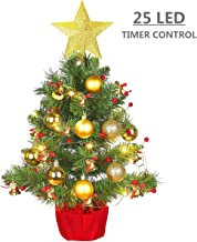 MAOYUE Tabletop Christmas Tree, 20 Inch Artificial Christmas Tree Battery Operated Lighted Mini Christmas Tree with 8 Mode LED Light for Christmas Decorations, Home Décor, Kitchen, Dining Table