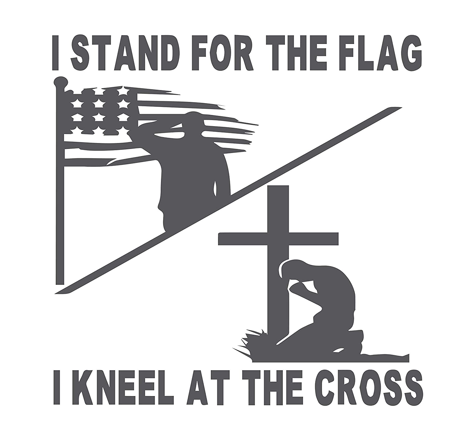 I Stand for The Flag I Kneel at The Cross 6