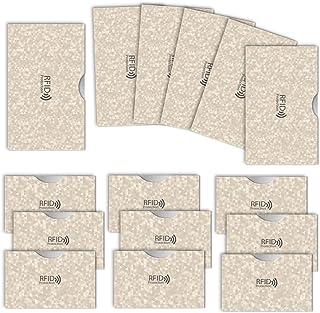 LOE カードケース RFID 磁気 スキミング 防止 クレカ & 通帳 サイズ (ポリゴン柄 ベージュ)