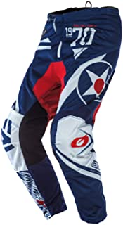 O`Neal Element Adult Pants, Warhawk, Blue/Red, 42