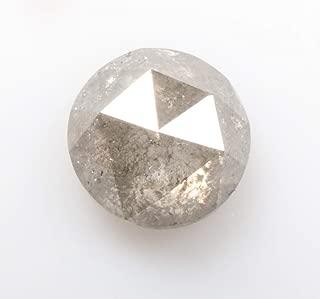 1.07 ct 6.1 mm Natural Loose Diamond Salt and Pepper Grey Color Beautiful Round Rose Cut Diamond R4025