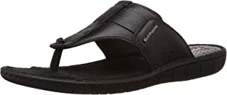 Hush Puppies Men's Sedan Thong Leather Flip Flops Thong Sandals