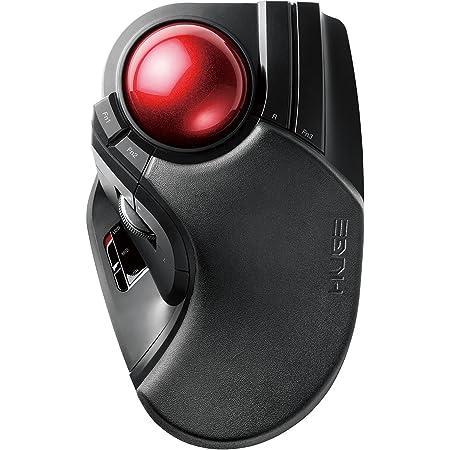 エレコム トラックボールマウス ワイヤレス 大玉 8ボタン チルト機能 ブラック M-HT1DRBK