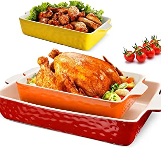 3Pack Ceramic Baking Dish for Oven Large Casserole Baking Dish with Handles Packaging Upgrade Nonstick Ceramic Bakeware fo...