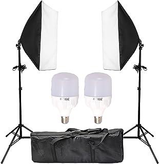 "Abeststudio 2x25W LED Continuous Lighting Kit 20""x28""/50x70cm Softbox Soft Box Photo Studio Set Light Bulbs Lamp 5500K Pho..."