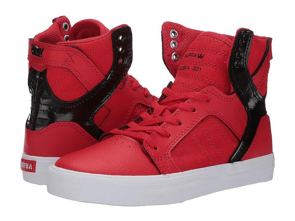 Supra Kids Skytop (Little Kid/Big Kid) (Risk Red/Black/White) Boys Shoes