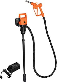 K Tool International Electric Drum Pump with Rechargeable Battery 19.2 V, Compatible with Diesel, Water, Kerosene, Oils and More KTI72215