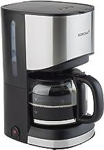 Korona 10252 Koffiezetapparaat, filter koffiezetapparaat voor 12 kopjes koffie, kan van glas, zwart, 800 watt