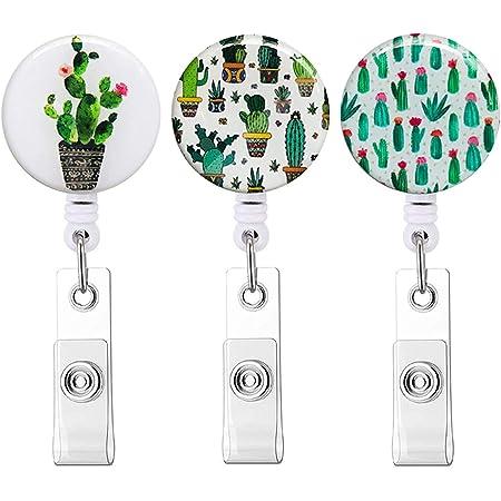 Nurse Badge Holder Nurse Gift Nurse Badge Reel Prickly Cactus Badge Reel Badge Reel RN Badge Reel Retractable Badge Reel Badge Clip