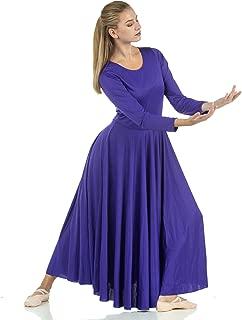 Womens Praise Loose Fit Full Length Long Sleeve Dance Dress