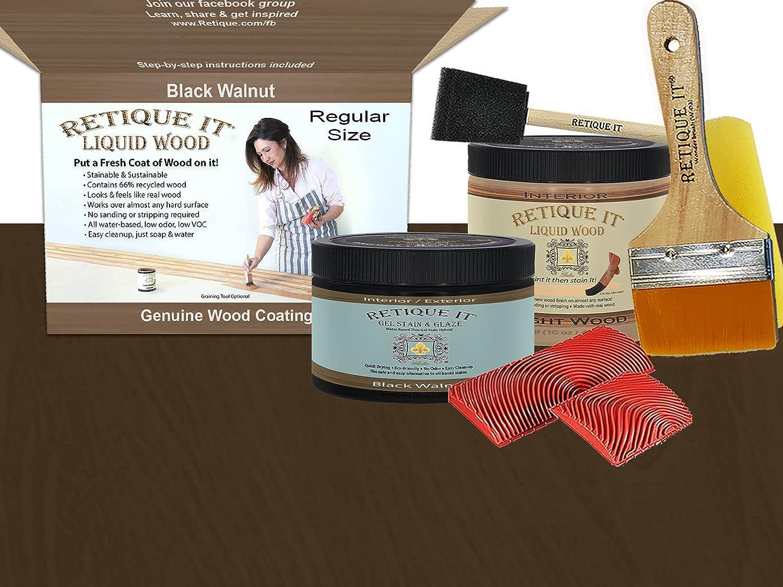 National uniform free shipping Retique It Graining Kit Gel Stain Wood Liquid 1 year warranty oz 16 Pint with