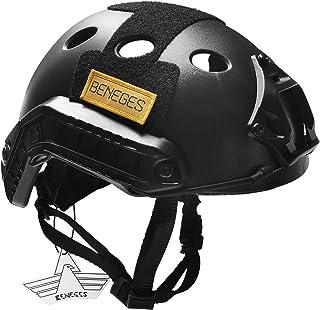 Beneges サバゲーヘルメット [Fast PJ] タイプ 超軽量 頭周り調節 米軍風 付属品付き サバゲー 戦術ヘルメット