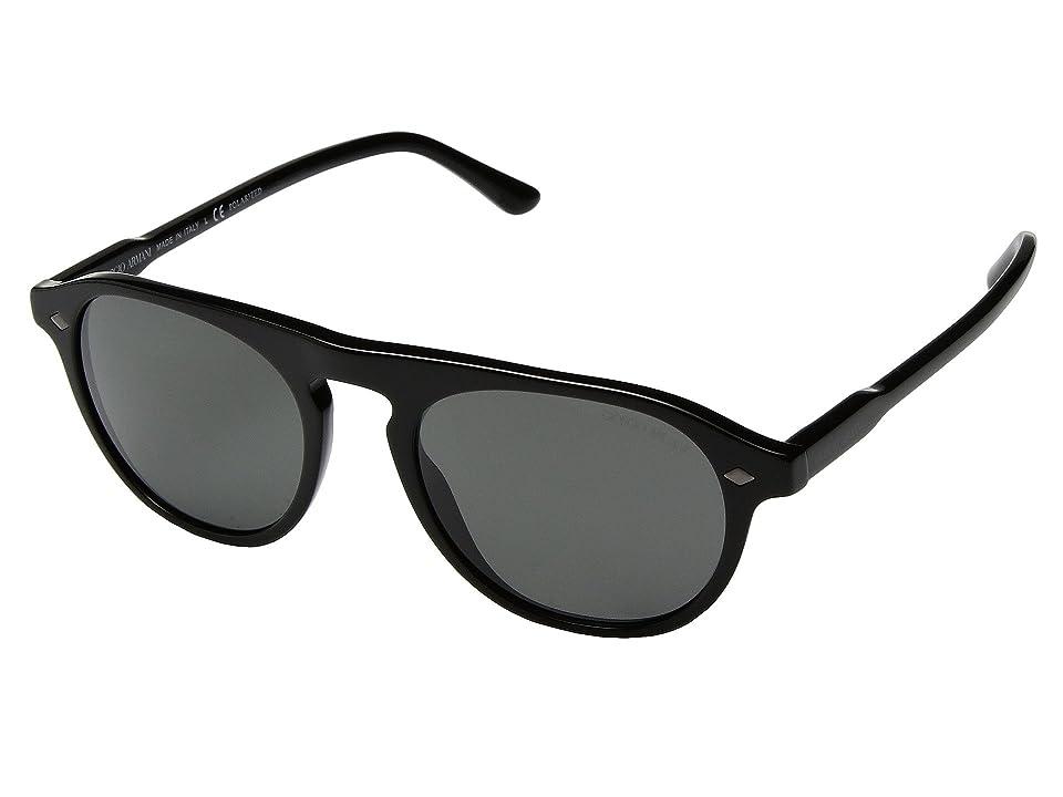 e58e64ee04 Giorgio Armani 0AR8096 (Black Polarized Grey) Fashion Sunglasses