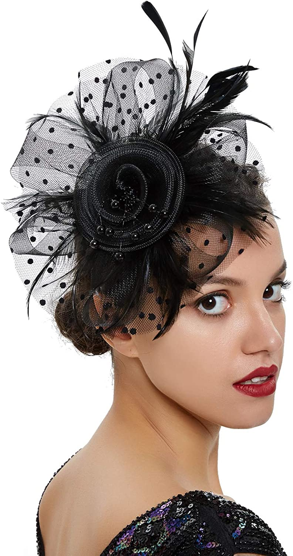 Women Fascinator Hat Tea Party Headband Kentucky Derby Wedding Cocktail Hat Charming Head Decoration