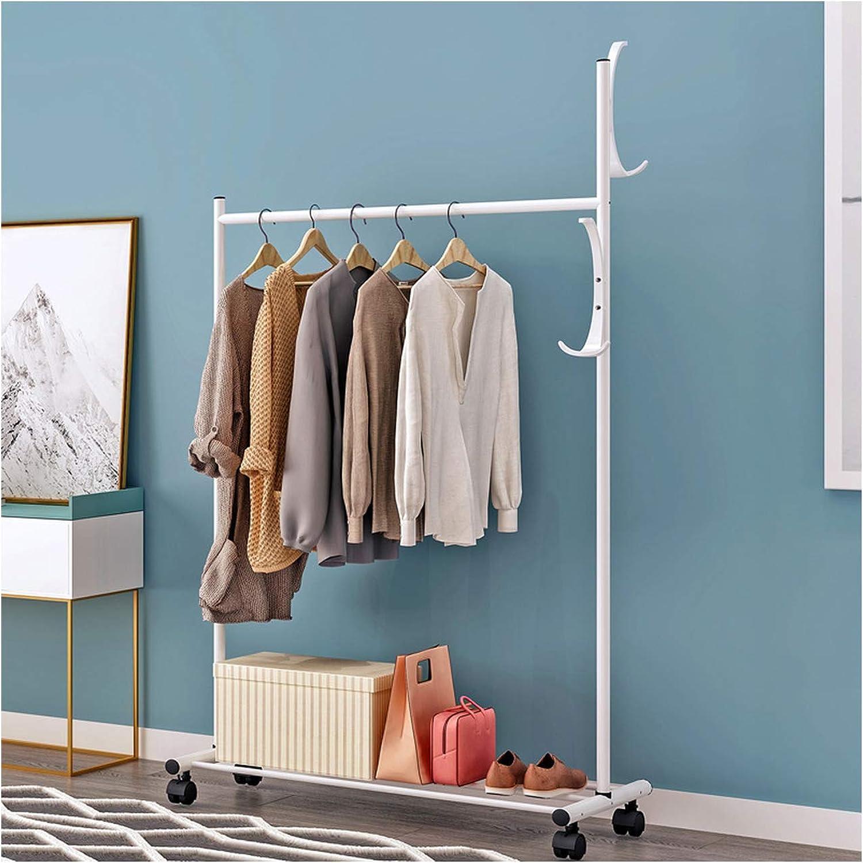 Clothes Hanger Coat Rack Floor Hanger Storage Wardrobe Clothing Drying Racks,White