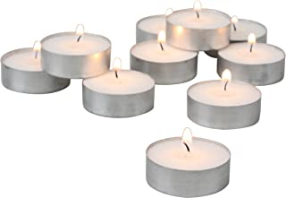 Stonebriar 4 Hour White Unscented Long Burning Tea Light Candles, Candle Accessories Birthdays, Weddings, Spas Everyday Home Decor, Bulk 150 Pack