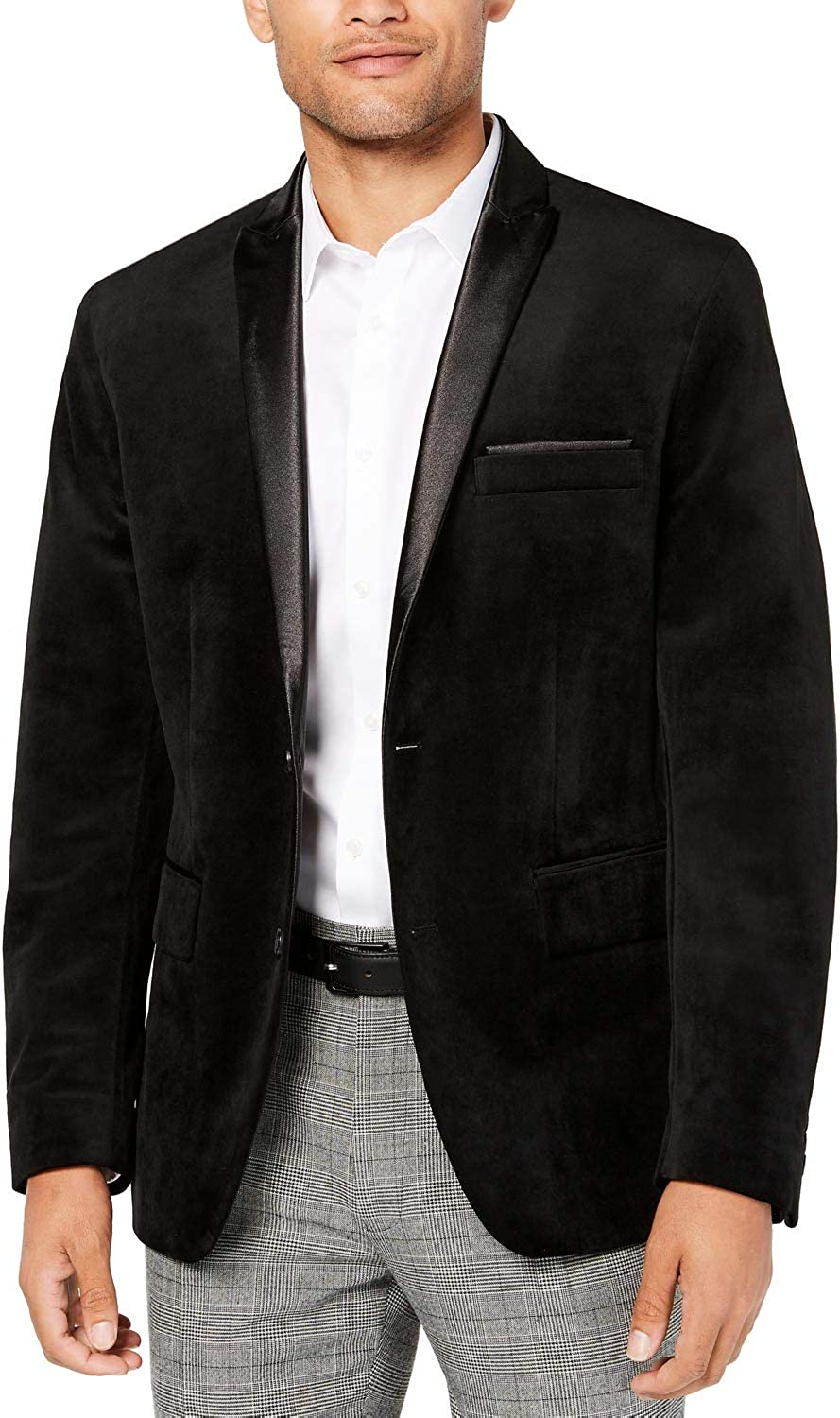 High quality new I-N-C Mens specialty shop Velvet Two Blazer Button Jacket