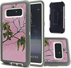 Galaxy Note 8 Camo Case, Kecko Heavy Duty High Impact Shock Absorbent Drop Protection Scratch Resistant Military Defender Case Protective Shell with Swivel Belt Clip for Samsung Galaxy Note 8