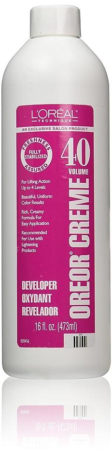 足快適予想外Loreal Oreor Creme 40 Volume Developer 16 Oz. (並行輸入品)