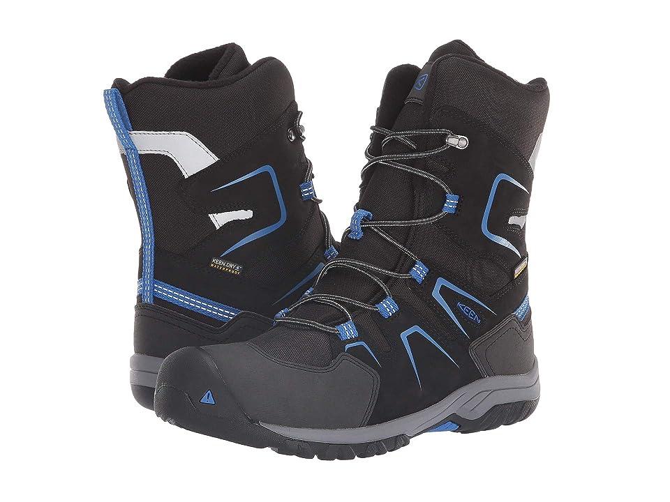 Keen Kids Levo Winter WP (Little Kid/Big Kid) (Black/Baleine Blue) Boys Shoes