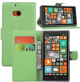 Ultra Slim Flip Bracket Cover Case for Nokia Lumia Icon 929 / Nokia Lumia 930 - Premium Soft PU Leather [ Wallet ] Case Cover for Nokia Lumia Icon 929 / Nokia Lumia 930 (Wallet - Green)