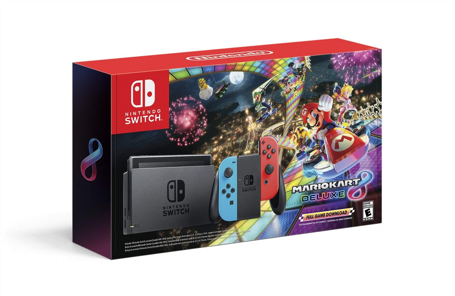 Nintendo Switch w Challenge the lowest price Neon Blue Red 8 + D Joy-Con Kart Mario Max 62% OFF