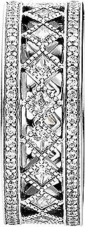 Pandora Women's Silver Band Ring, 6-6.5 US - 191007CZ-52