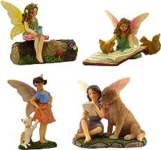PRETMANNS Fairies for Fairy Garden – Fairy Figurines for a Miniature Garden – Fairys with Their Favorite Animal Friends – ...