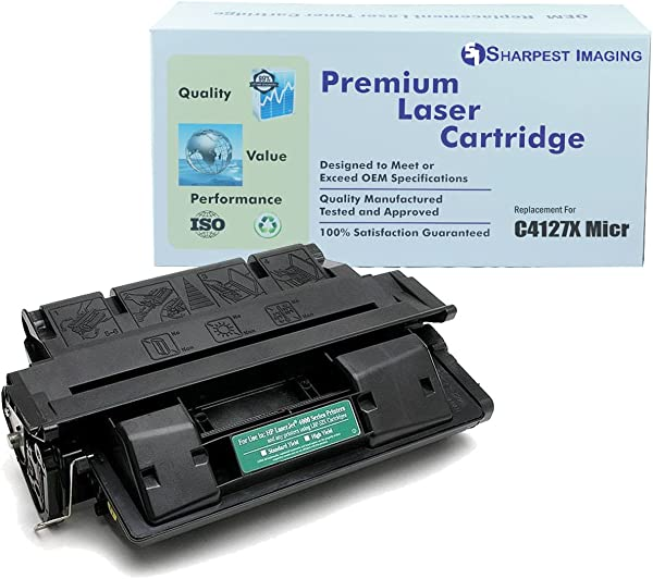 SharpestImaging HP 27X C4127X Compatible MICR Toner Cartridge For Check Printing For HP LaserJet Printers 4000 4050