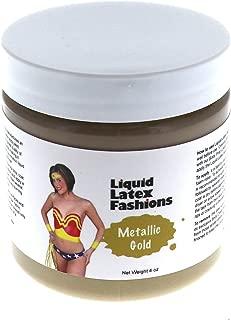Metallic Gold Liquid Latex Body Paint in 4 Ounces