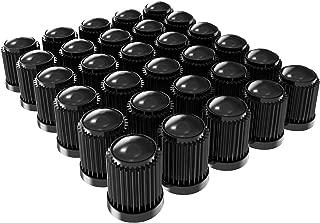 Tire Caps - 30 Pack - Bicycle Valve Cap - Plastic Cars and Bike Tire Caps - Black Color Valve Dust Covers