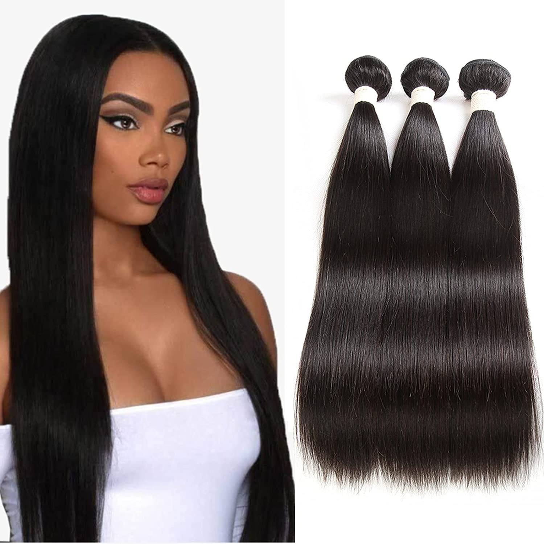 100% Unprocessed Brazilian Virgin Louisville-Jefferson County Mall Hair specialty shop Human Straight Exten