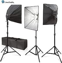 LimoStudio Photo Video 2400 Watt 3 x Softbox Continuous Light Kit, 3 x Light Stands, 3Pcs x 16