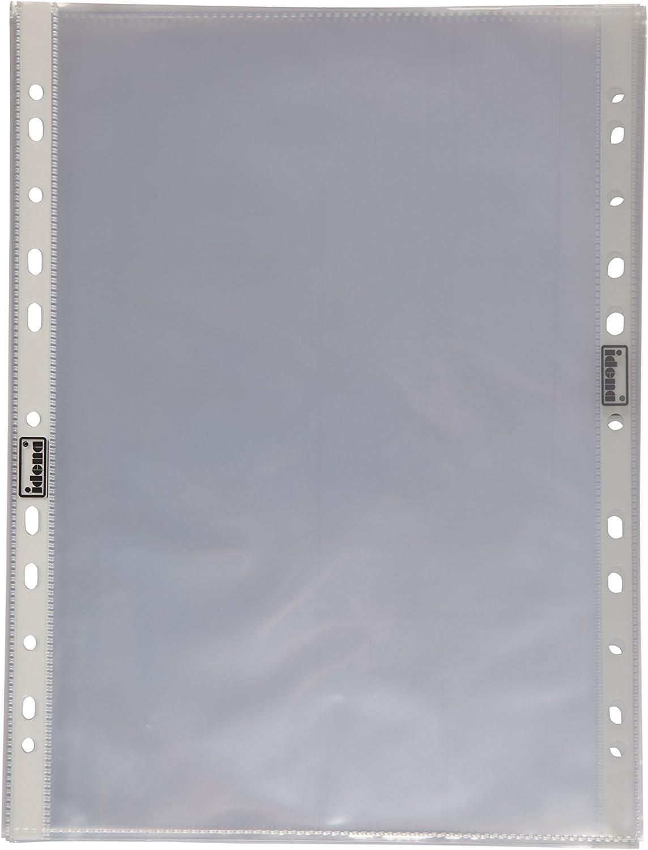 Idena Lot de prot/ège-documents DIN4 transparent Lot de 10 10 pi/èces