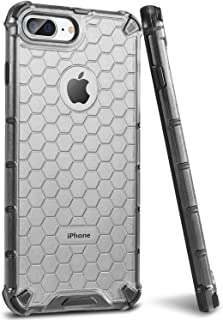Sankmi iPhone 8 Plus Case, Clear Protective Luxury iPhone 7 Plus Case Slim 8 Plus iPhone Case Blue Cool Honeycomb Phone Case iPhone 8 Plus with Anti-Scratch Reinforced Frame for Men Women (Black)